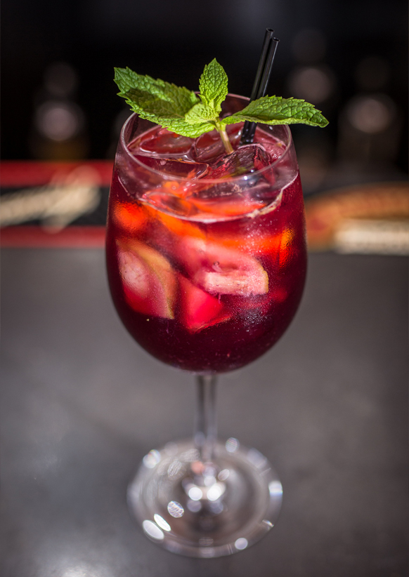 SPICED RUM SANGRIA graphic